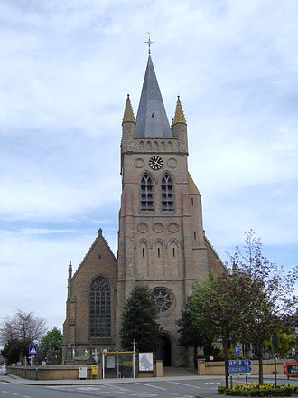 Reninge - Sint-Rictrudiskerk in Reninge