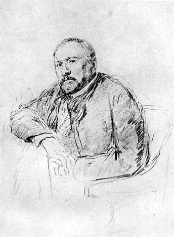 Н.С.Лесков. Рисунок И.Е.Репина, 1888—89 гг.