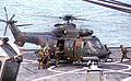 Republic of Singapore Air Force Eurocopter AS332 Super Puma on the USS Rushmore during CARAT 2001 - 20010720.jpg