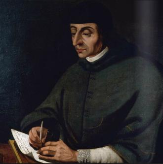 Francisco Cervantes de Salazar - Portrait of Francisco Cervantes de Salazar by José de Bustos, Museo Soumaya.