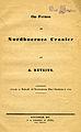 Retzius, Om formen af Nordboernes Cranier (1843) titelblad.jpg