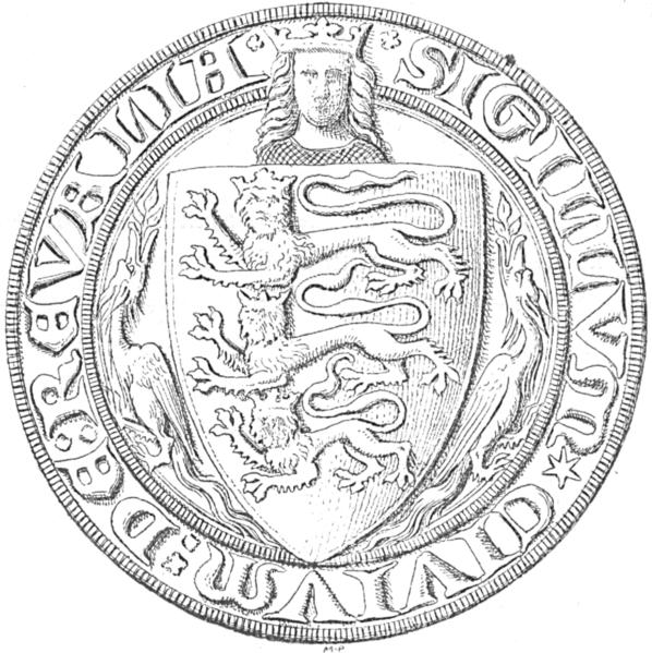 Tallinna sinetti v.1340 osana Tanskan kuningaskuntaa