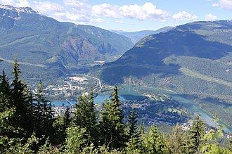 View of the temperate rain forest in Mount Revelstoke National Park, British Columbia, Canada Revelstoke from Mount Revelstoke.jpg