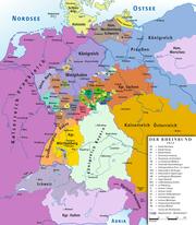 Rheinbund 1812, political map