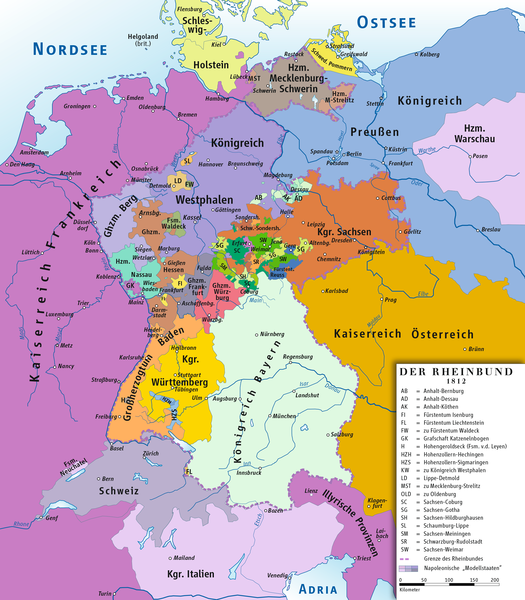 File:Rheinbund 1812, political map.png