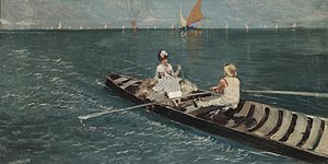 Riccardo Pellegrini Bootsfahrt in der Lagune 1883.jpg