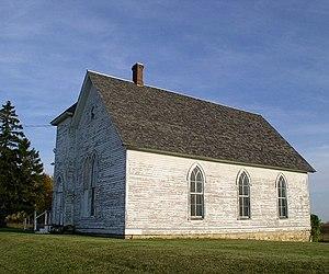 Rice Lake State Park - Rice Lake Church, built in 1857