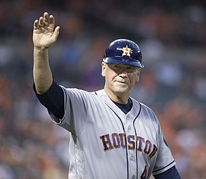 Rich Dauer - Dauer as first base coach for the Houston Astros in 2016