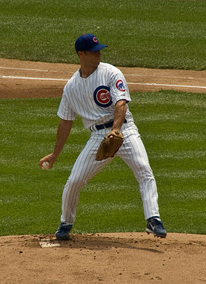 Rich Harden - Harden pitching for the Cubs in 2008