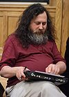 Richard Stallman pointing out problems, October 16, 2007.jpg
