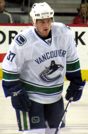 Vancouver Canucks forward Rick Rypien prior to...
