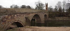 Listed buildings in Kearsley - Image: Ringley old bridge
