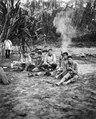 Rio Madidi, Bolivia. Chamaindianer på besök i expeditionens läger. Rio Madidi - SMVK - 005544.tif