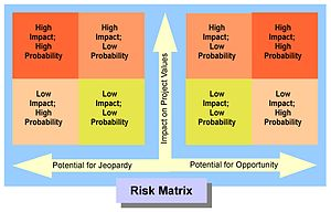 Risk matrix for use with a small-scale project...