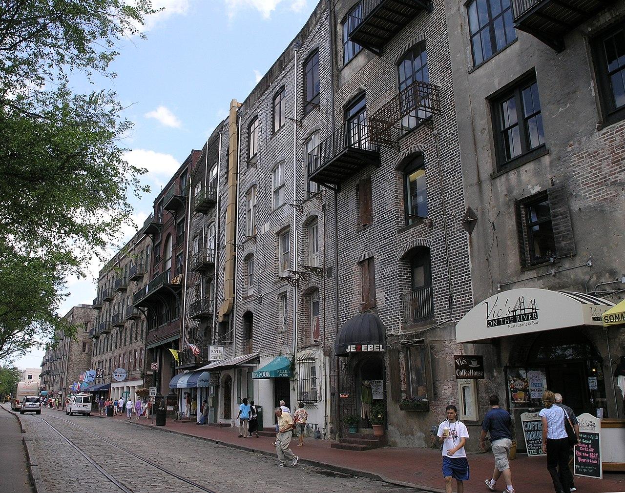 File River St In Savannah Georgia Jpg Wikimedia Commons