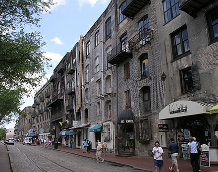 River Street River St in Savannah, Georgia.JPG