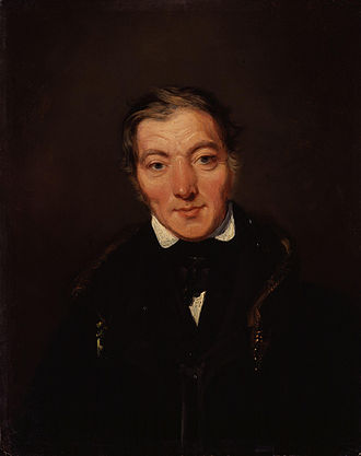 Robert Owen - Owen, aged about 50,  by William Henry Brooke