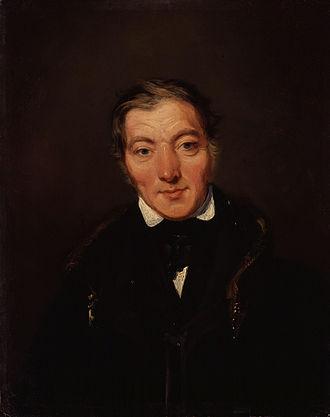 Robert Owen - Owen, aged about 50,  by William Henry Brooke