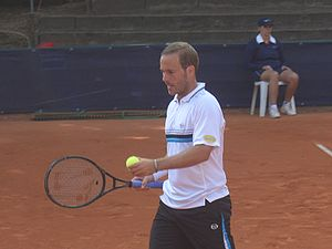 Ethias Trophy - Olivier Rochus won the inaugural event's all-Belgian single final in 2005