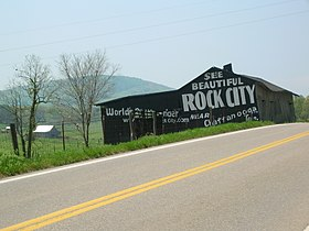 Rock City Barn on U.S. Highway 411 South, in Sevier County, Tennessee