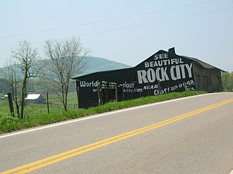 Rock City (attraction) - A barn advertisement in Sevier County, Tennessee