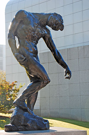 High Museum of Art - An Auguste Rodin sculpture piece called The Shade, donated to the High by the French government in memory of victims of a plane crash during a museum-sponsored trip in Paris, France.