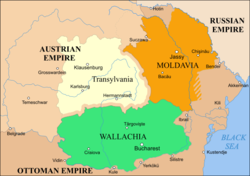 Principality of Moldavia, 1793-1812, highlighted in orange