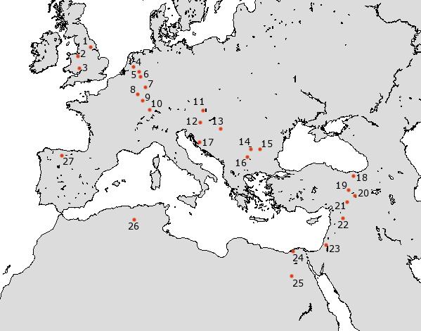 Roman Legions camps - AD 80