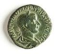 Romerskt bronsmynt, kejsare Gordianus III, 241-243 - Skoklosters slott - 110740.tif