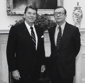 Robert L. Barry - Ronald Reagan and Barry in Oval Office in 1981