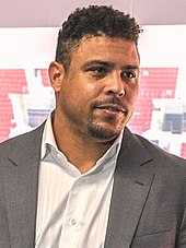 A photograph of former footballer Ronaldo.
