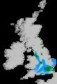 Rose-ringed parakeet range Great Britain.png