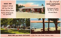 Rose Inn and Rose Cottages -- Paw Paw Lake Road, Coloma, Mich (90754).jpg