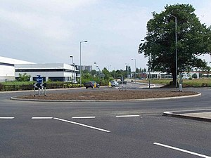 A453 road - Entering Tamworth