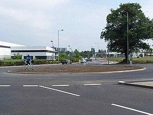 A453 road - Entering Tamworth