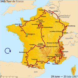 Route of the 1967 Tour de France.png
