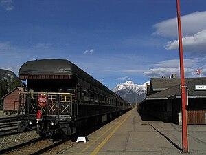 Banff station - The Royal Canadian Pacific at Banff