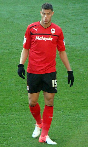 Rudy Gestede - Gestede playing for Cardiff City in 2012