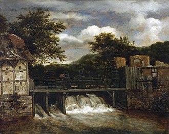Two Watermills and an Open Sluice near Singraven - Image: Ruisdael, Les deux moulins