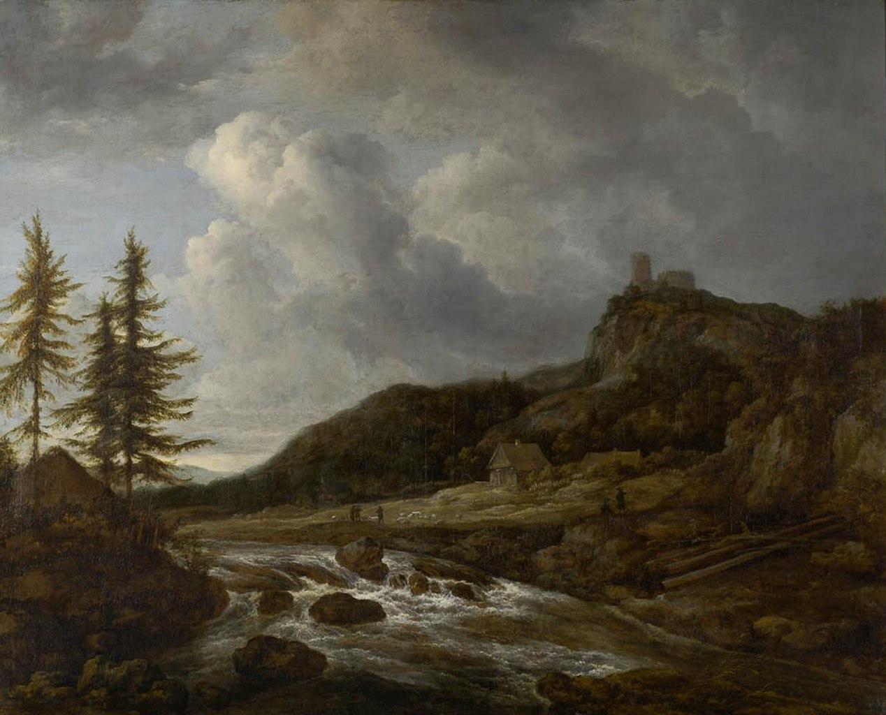 File ruisdael paysage montagneux avec for Paysage