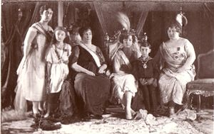 Şehsuvar Hanım - Şehsuvar (far right) at her son's wedding, 29 April 1920