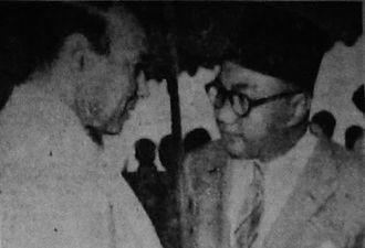 Ruslan Abdulgani - Abdulgani (right) in 1956