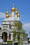 Russian Orthodox church at Geneva with its famous golden towers - panoramio.jpg