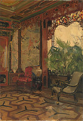 Interior decorated in Chinese style