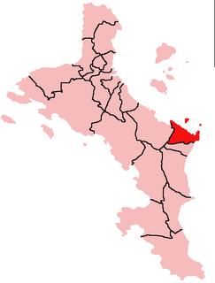 Pointe La Rue District in Seychelles