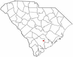 Location of Cottageville, South Carolina