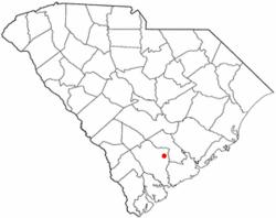Location of Cottageville, South Carolina