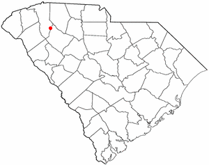 Fountain Inn, South Carolina - Image: SC Map doton Fountain Inn