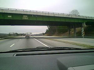 Interstate 85 - I-85 North after Exit 1 in Oconee County, South Carolina, in 2008