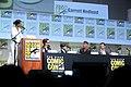 SDCC 2015 - Aisha Tyler, Joe Wright, Levi Miller, Garrett Hedlund & Hugh Jackman (19086260314).jpg